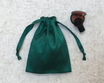 unique smallbag green silk - reusable bag - zero waste