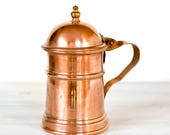 French Copper Coffee Pot,...