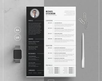 Sales Engineer Resume Word  Page Resume  Etsy High School Student Sample Resume Word with Software Skills For Resume Pdf Modern Resume Templatecv Template  Cover Letter  Word Resume  Resume  Template With What Does A Good Resume Look Like