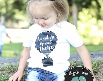 Adventure is out There Kids Shirt, Children's Shirt, Up, Funny Kid's Shirt, Youth Shirt, Back to School Shirt