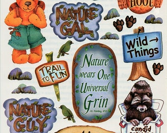 Camping Outdoors Nature Heartwarming Expression Stickers Crafty Secrets Scrapbook Embellishments Card Making