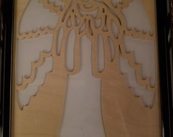 Scroll saw angel