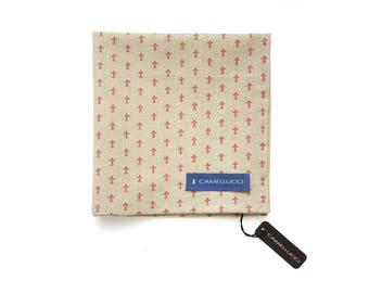 Men's Brown Cotton Pocket Square Handkerchief Hanky Hankie Squares Tie Suits Men