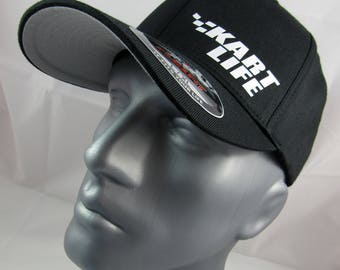 Kart Life Flex-Fit custom fitted hat, Racing Karts cap, kart racing sports cap, racing hat