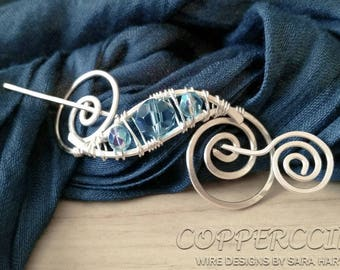Silver Wire Hair Pin