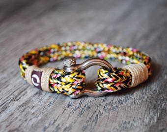 Yellow Bracelet, Mens Yellow Bracelet, Yellow Rope Bracelet, Bracelet For Him, Bracelet For Her, Summer Bracelet,