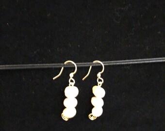Jade beaded earrings
