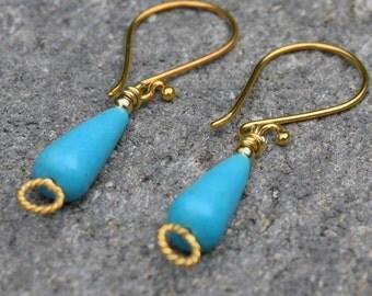 Blue Magnesite Earrings~
