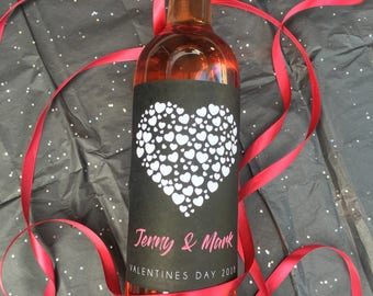 Valentine's Day Wine Label for Valentines Day Gifts, Valentines Day Gift for Him, Valentines Day Gift for Her (1030)