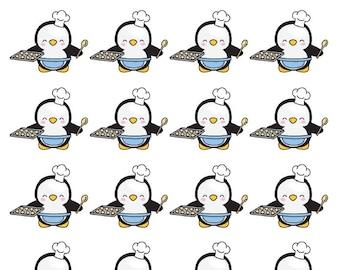 Penguin Baking Planner Stickers - All Planner Sizes - Erin Condren, Happy Planner, Recollections, TN
