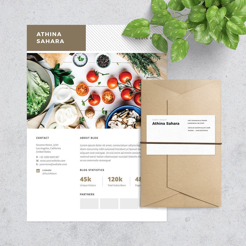 media kit press kit template for blogger format photoshop and ms