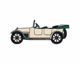 Vintage Car - Antique Collection Machine Embroidery Design - Five Sizes: 3.5 to 5.5 inch - Instant Download!