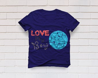 Volleyball svg, Love my boy svg, Volleyball mom svg, Mom shirt SVG Files, Cricut, Cameo, Cut file, Files, Clipart, Svg, DXF, Png, Pdf, Eps