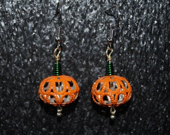 Filigree Pumpkin Earrings