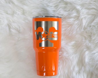 Tennessee Vols yeti powder coated