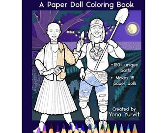 Plant People: A Paper Doll Coloring Book