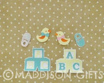 Baby Card Embellishments Baby Shower Toppers Scrapbooking Party Paper Craft Supplies