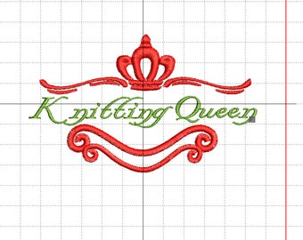 """Embroidery """"knitting Queen"""""""