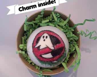 Ghostbusters Bath Bomb - Ghostbusters 2016 Necklace Charm Inside - Green Apple Scented