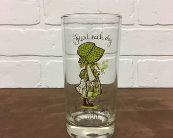 1970s Holly Hobbie Drinking Glass