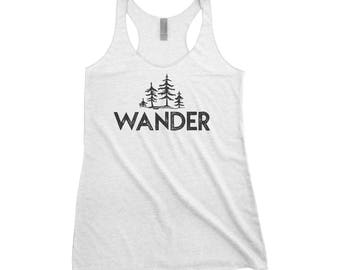 Wander Trees Adventure Adventure Next Level Ladies Tri-Blend Tank