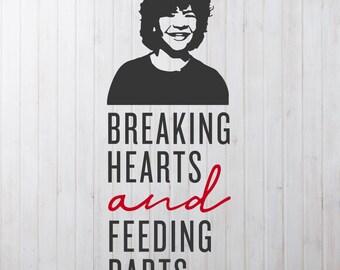 Breaking Hearts (Dustin Henderson) svg file | Stranger Things File | Silhouette File | Cricut File |  craft SVG | upside down SVG