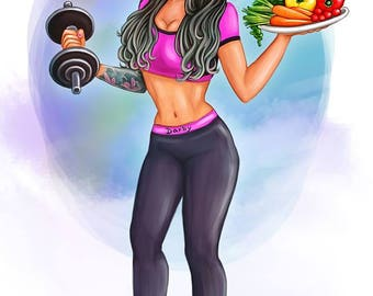 STAY FIT Cartoon Portrait