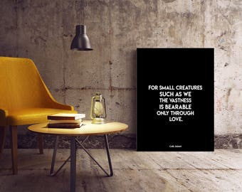 Carl Sagan Love Quote Fascinating Carl Sagan Love  Etsy