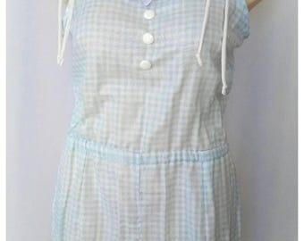 Blue checker sweet jumpsuit
