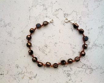 "Mixed bracelet ""Grana"" bronze"