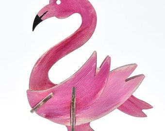Wooden Flamingo Floor in color