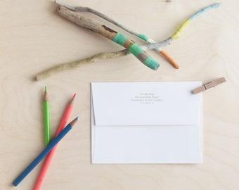 Return Address Printing / Personalized Stationery / Envelope Printing