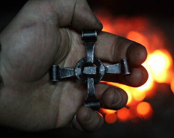 Forged Cross Necklace
