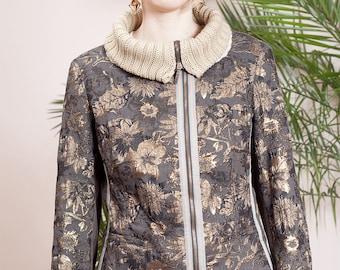Vintage bomber jacket•Vintage clothing•90s jacket•Vintage jacket•90s brown jacket•vintage clothing•90s designer jacket•Heymann streetcouture