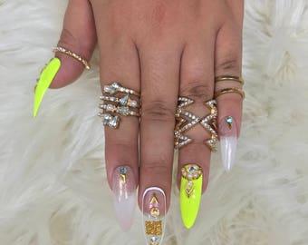 Neon Goddess Press on Nails