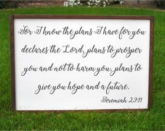 Jeremiah 29 11 Wall Art jeremiah 29 11 | etsy