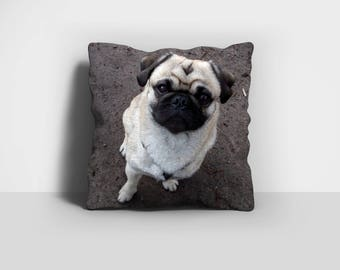 Pug Pillow, Pug Dog Pillow, Throw Pillow, Pug Throw Pillow, Dog Pillow, Home Decor, Decorative Pillow, Pillow Case, Pillow Cover