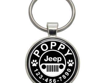 Pet ID Tag - Jeep- Pet Tags,  Dog Tags, Cat Tags, Dog ID Tags, Cat ID Tags