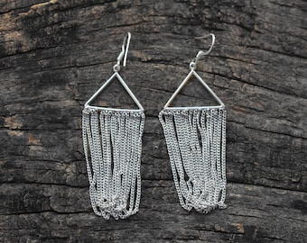 silver earring,simple earring,925 silver earring,long earring
