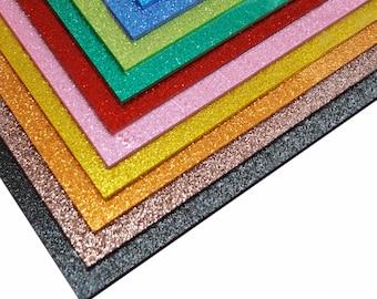 Plexiglas glitter, Plexiglass sheets glitter 200x300 mm, Glitter PMMA Lasercut acrylic sheet glitter - SET10 panel monocolour or multicolour