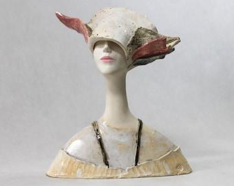 Ceramic Sculpture ,  Fine Art Ceramic , Art Object , Handmade Clay Sculpture , Ceramic Art , Ceramic Figurine , Pottery , Ceramic Bust ,