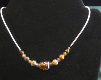 Shades of Brown Beaded Necklace