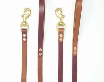 Classic Leather Leash For Dogs - 4 feets