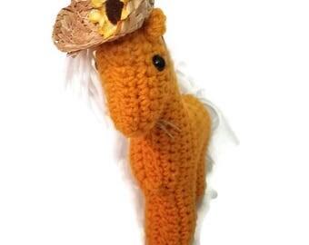 Sunny Crochet Horse