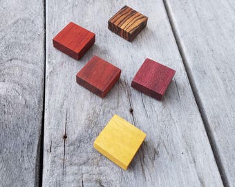 Exotic Hardwood Magnets Square magnets Pack of 4