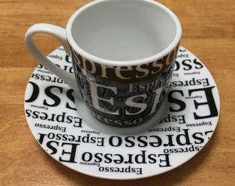 German Modern Espresso Cup and Saucer