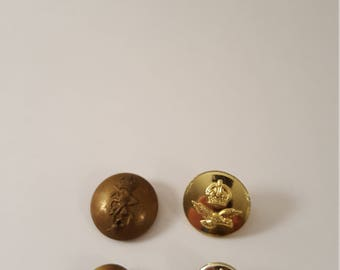 4 British Military Buttons