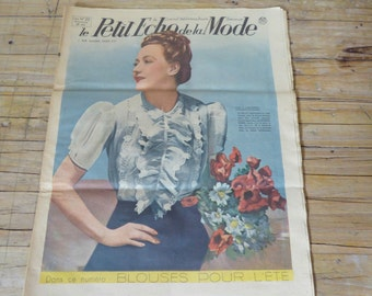 Vintage french magazine, the little Echo fashion may 28, 1939