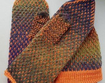 Beanie and mittens set, winter beanie, winter mittens, wool mittens, merino mittens, wool beanie, merino hat, winter hat, colorful beanie