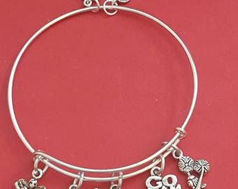 Cheerleader Themed Charm Bracelet